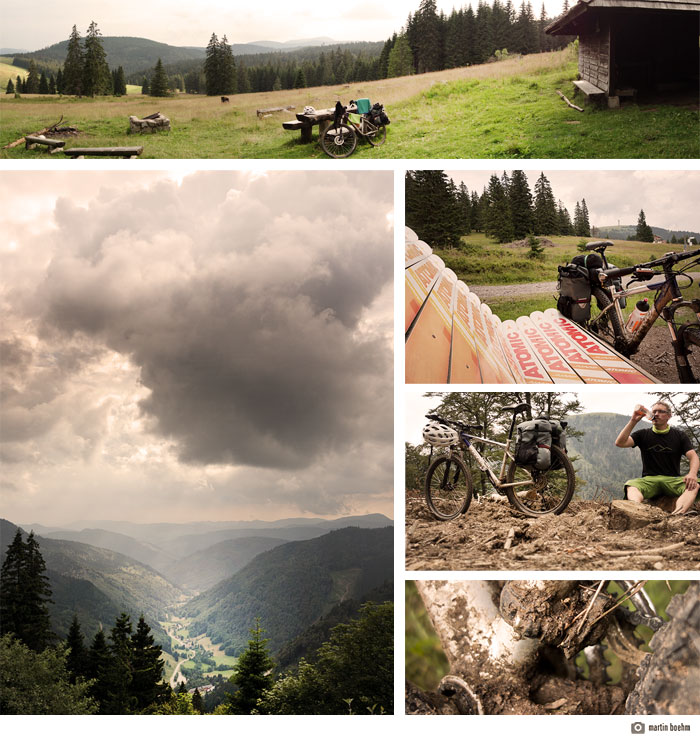 bikepacking schwarzwald collage